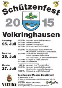 Schützenfest Volkringhausen 2015