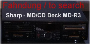Sharp - MD CD Deck MD-R3