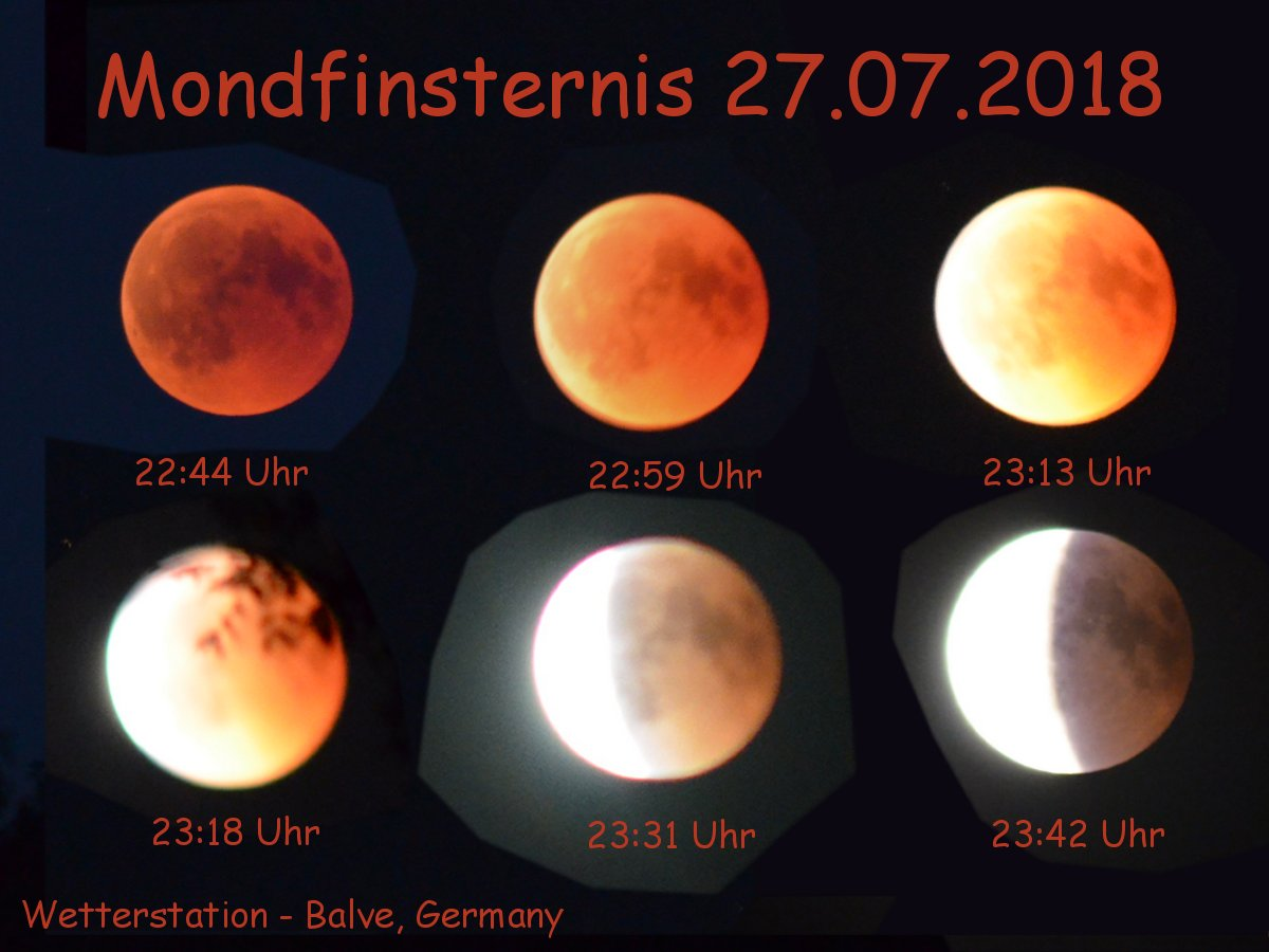 Totale Mondfinsternis 27.07.2018 – Blutmond, Rostmond