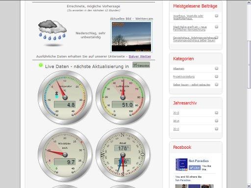Wetterstation Balve - Wetterdaten direkt aus Balve